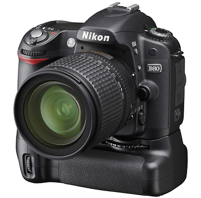 Nikon D80 - 10.2MP Digital Camera and 18-135mm lens and the Nikon D80 Battery Grip...