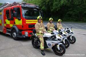 Firefighters and TT Marshalls TT 2011 © Peter Killey