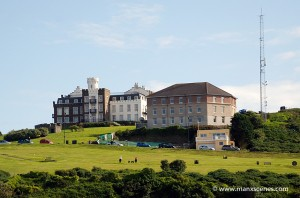 Douglas Head Apartments and Manx Radio © Peter Killey