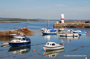 Looking towards Alfred Pier at Port St Mary Harbour - © Peter Killey