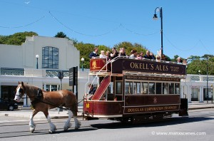 Douglas Corporation Unique Double Decked Horse Tram © Peter Killey