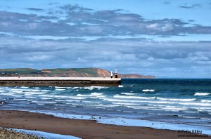 Ramsey Beach and Piers and the Bride Coastline - © Peter Killey