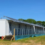 A row of Snoozebox units which are based to the rear of the TT 2012 Grandstand - © Peter Killey