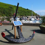 "The Anchor of the wrecked Ship ""Thorn "" Laxey Inner Harbour - © Peter Killey"