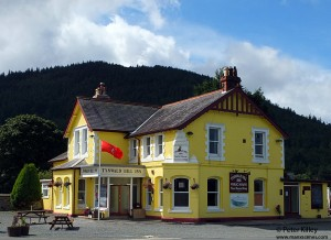 Tynwald Hill Inn and Slieau Whallian Mountain - © Peter Killey