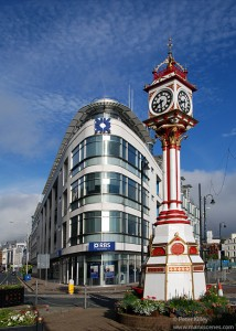 The Jubilee Clock in Victoria Street, Douglas - © Peter Killey