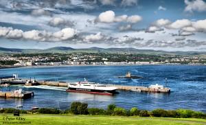 Fastcraft Manannan Leaving Douglas Harbour (HDR) - © Peter Killey