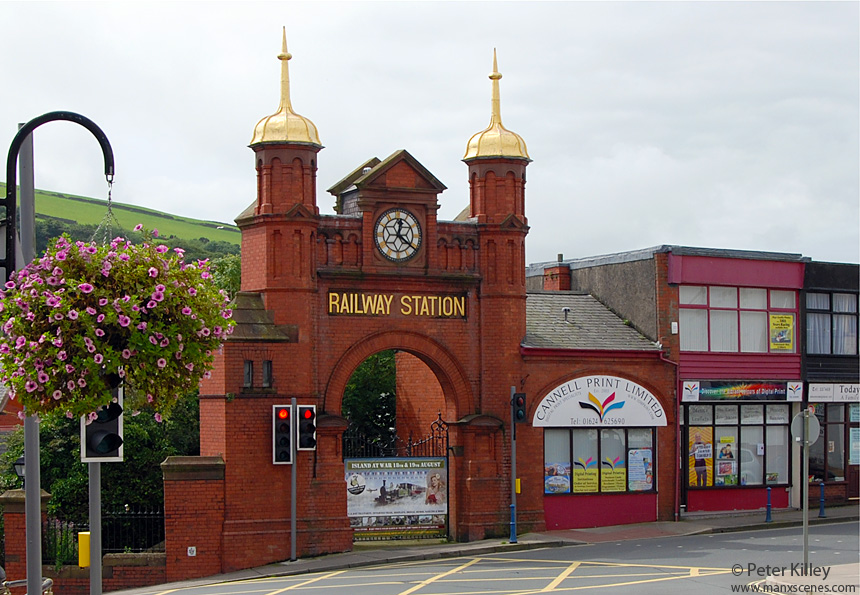 Douglas Railway Station Entrance - © Peter Killey