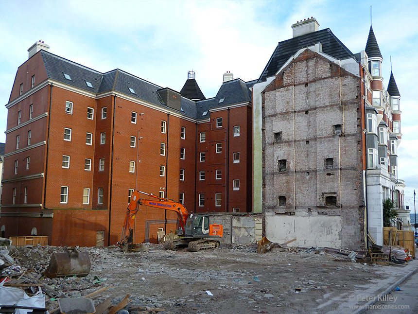 Mannin Hotel (what was) 4th November 2012 after week 4 of Demolition - © Peter Killey