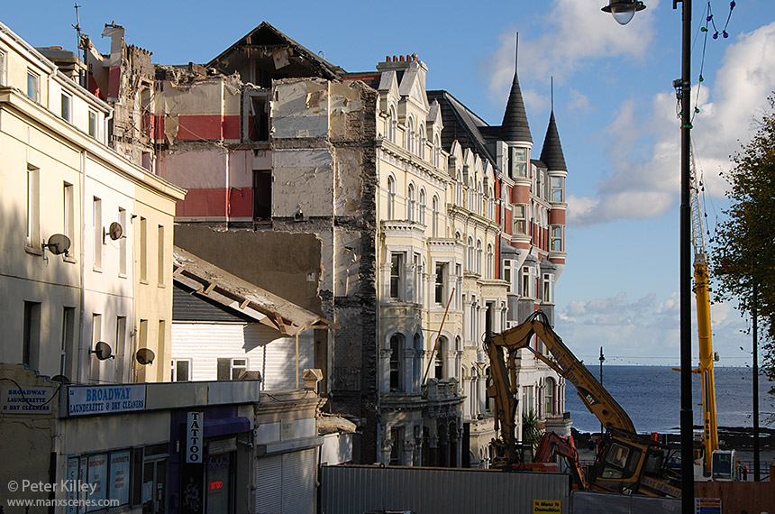 The Mannin Hotel Demolition after week 1 - © Peter Killey