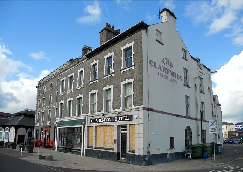 Clerendon and Douglas Hotel on North Quay Douglas