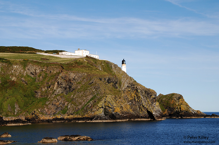 On the Headland at  'Gob ny Portmooar' and looking up to Maughold lighthouse - © Peter Killey