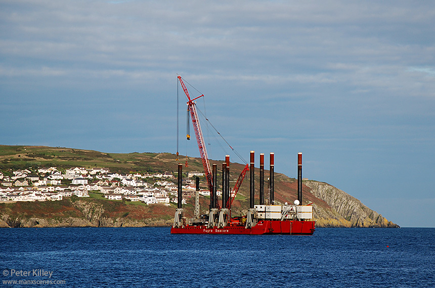 Excalibur moored in Douglas Bay - © Peter Killey