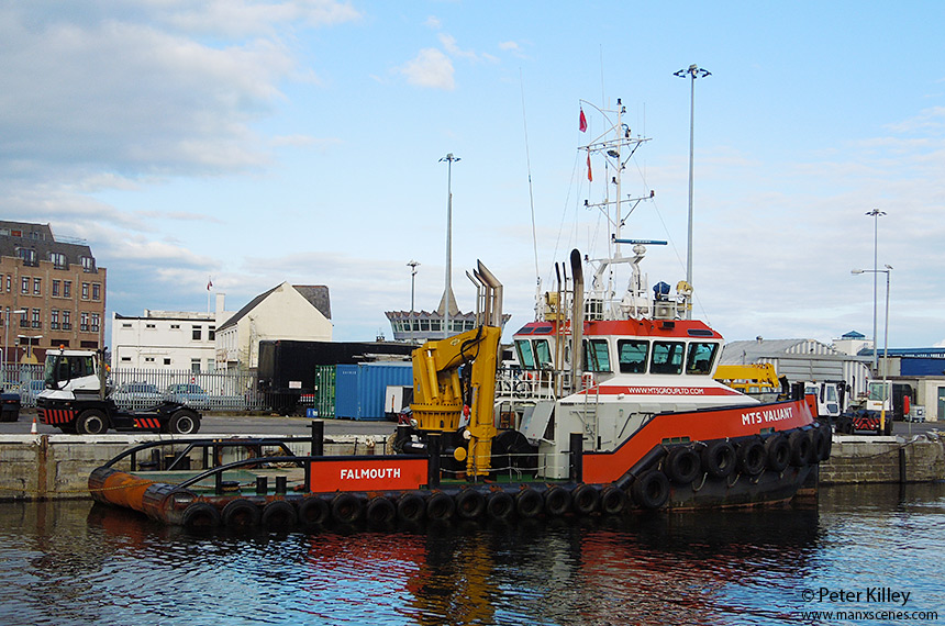 MTS Vailiant berthed on the King Edward Pier in Douglas - © Peter Killey