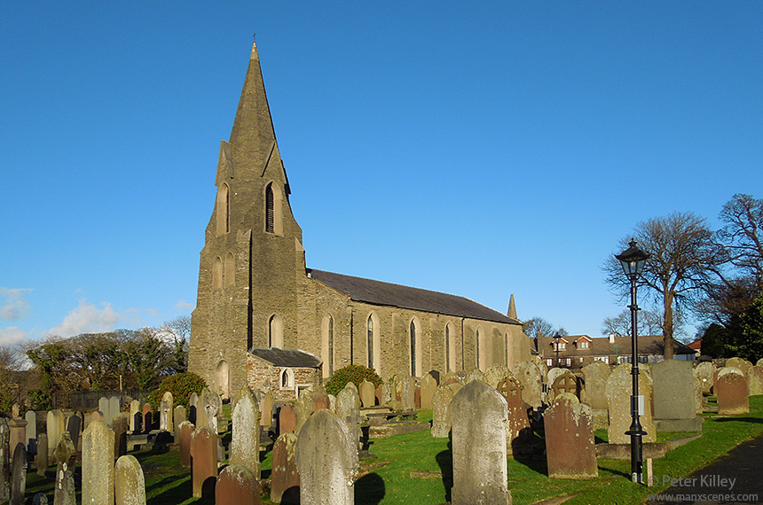 St. Peter's Church in Kirk Onchan - © Peter Killey