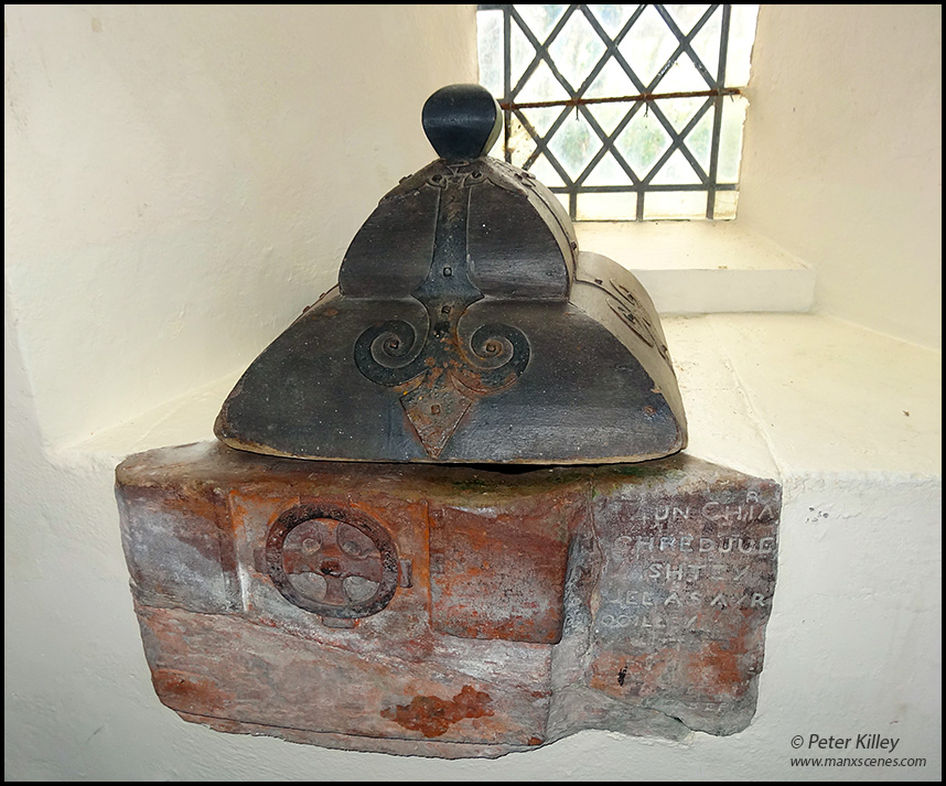 The Ancient Font in Ballaugh old Church - © Peter Killey