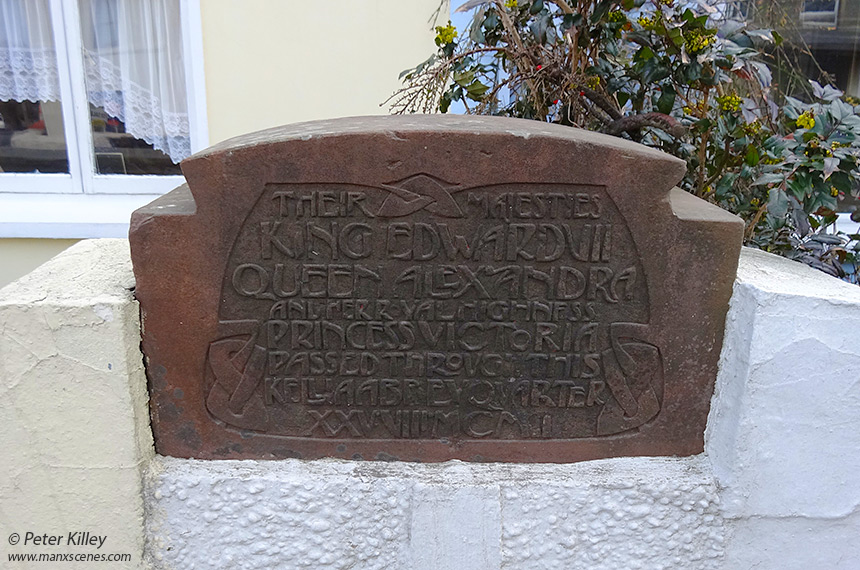 Archibald Knox Plaque in Sulby - © Peter Killey