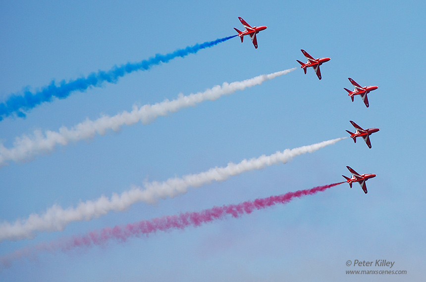 Red Arrows Over Ramsey Isle of Man -  © Peter Killey