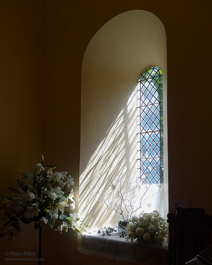 Simple Shadows - Cronk Old Church - © Peter Killey