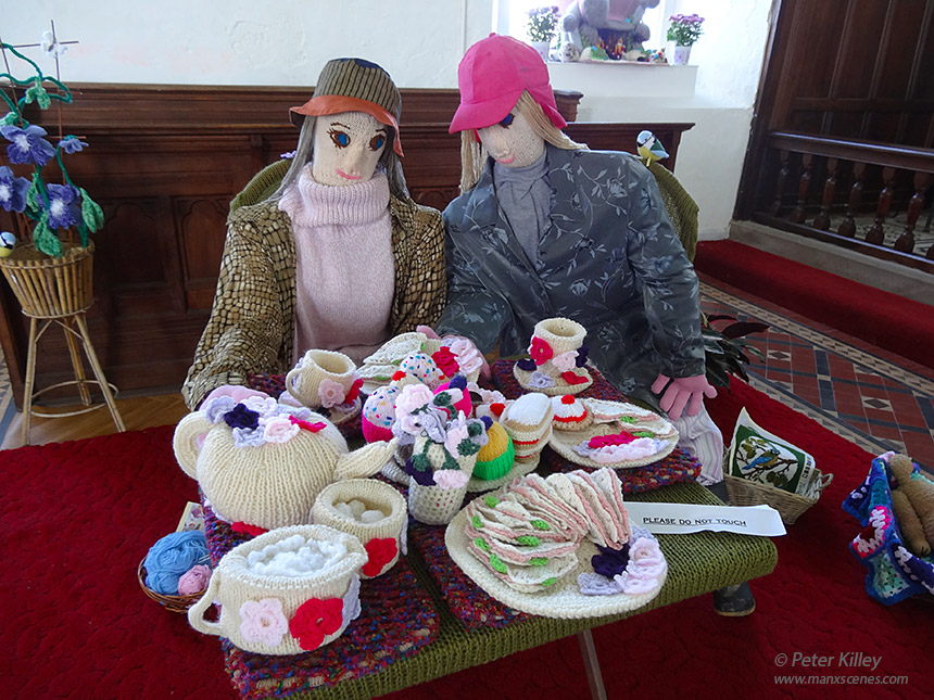 Knitted Charachters Jurby Church  -  © Peter Killey