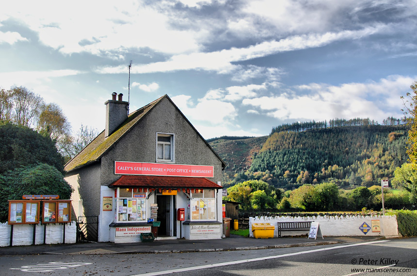 Caley's Store in Sulby Village - © Peter Killey