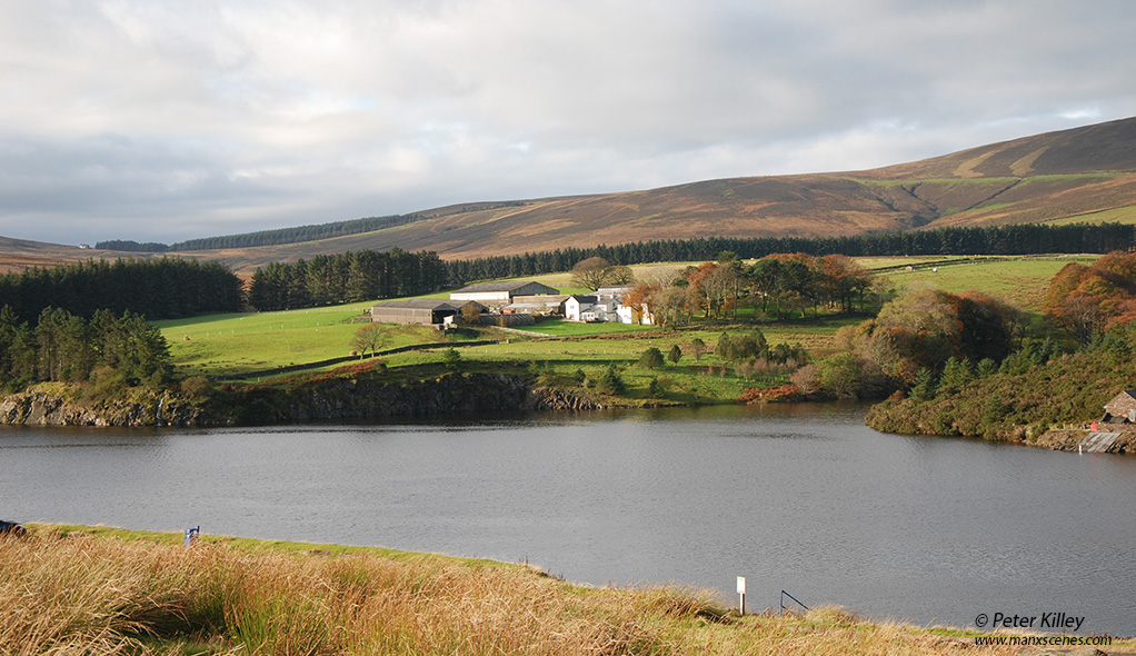 Overlooking Sulby Reservoir towards Druidale Farm - © Peter Killey