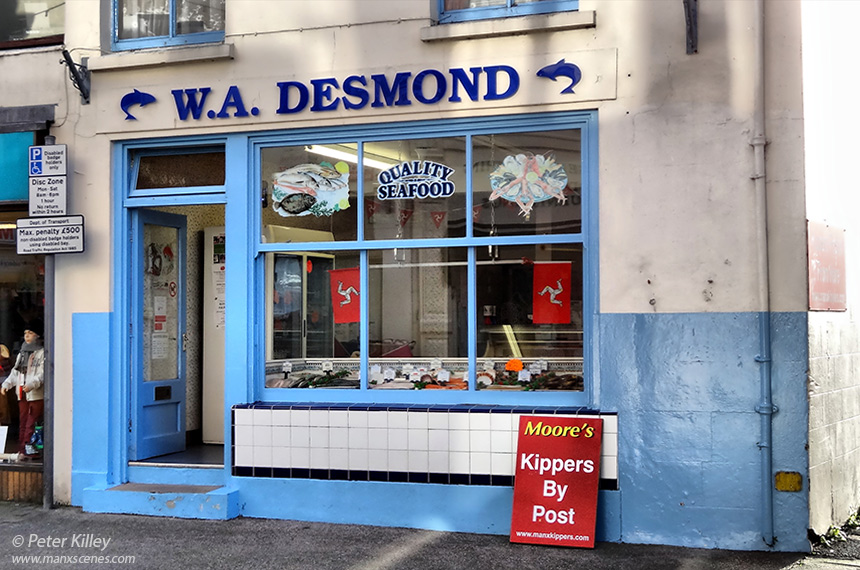 Desmond's Fish Shop in Parliament Street in Ramsey - © Peter Killey