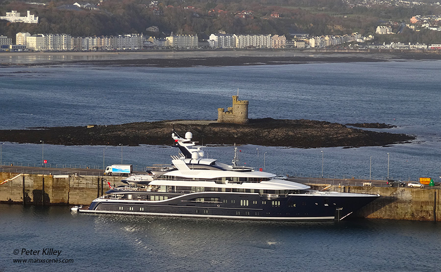 Motor Yacht Solandge - Douglas Harbour -  © Peter Killey