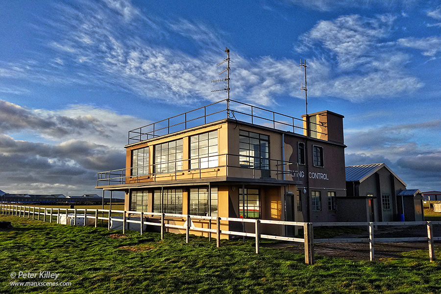 Old Jurby Air Traffic Control Tower © Peter Killey - www.manxscenes.com