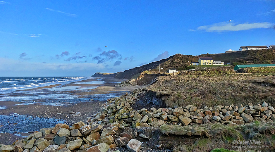 Glen Wyllin Coastal Erosion © Peter Killey - www.manxscenes.com