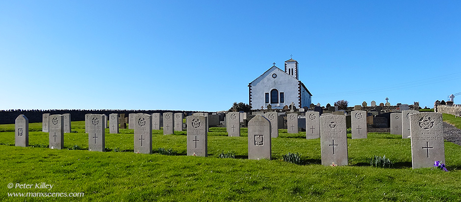 Jurby Church War Graves © Peter Killey - www.manxscenes.com