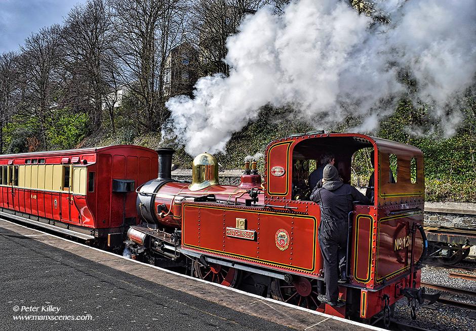 Steam Train Hutchinson © Peter Killey - www.manxscenes.com