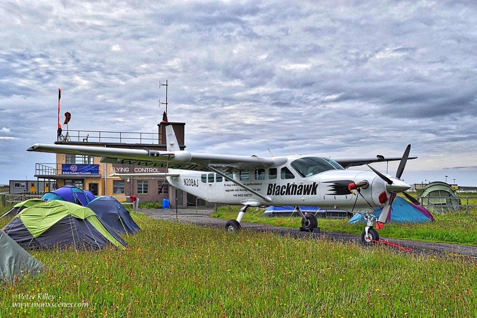Blackhawk Cessna at Jurby Airfield © Peter Killey - www.manxscenes.com