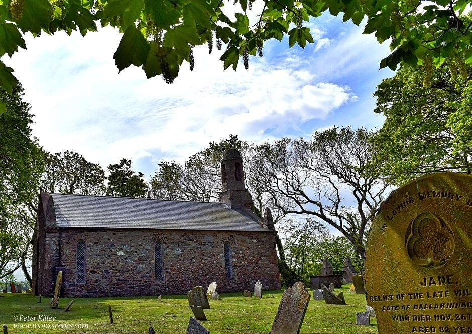 Ballaugh Church at the Cronk © Peter Killey - www.manxscenes.com