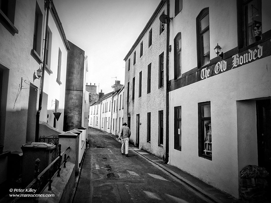 The Narrow Streets of Peel in the Isle of Man © Peter Killey- www.manxscenes.com