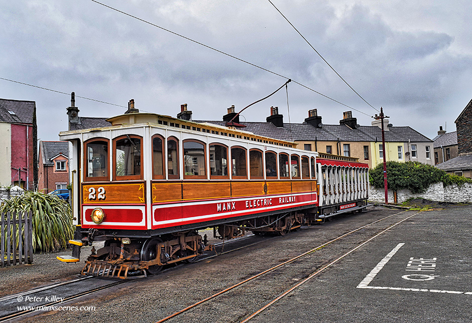 Manx Electric Railway Tram 22 © Peter Killey - www.manxscenes.com