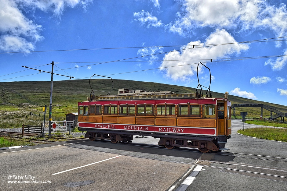 Electric Tram Number 3 © Peter Killey - www.manxscenes.com