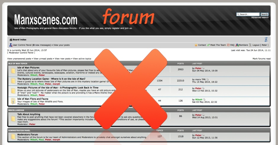 Forum will close 30th June 2014