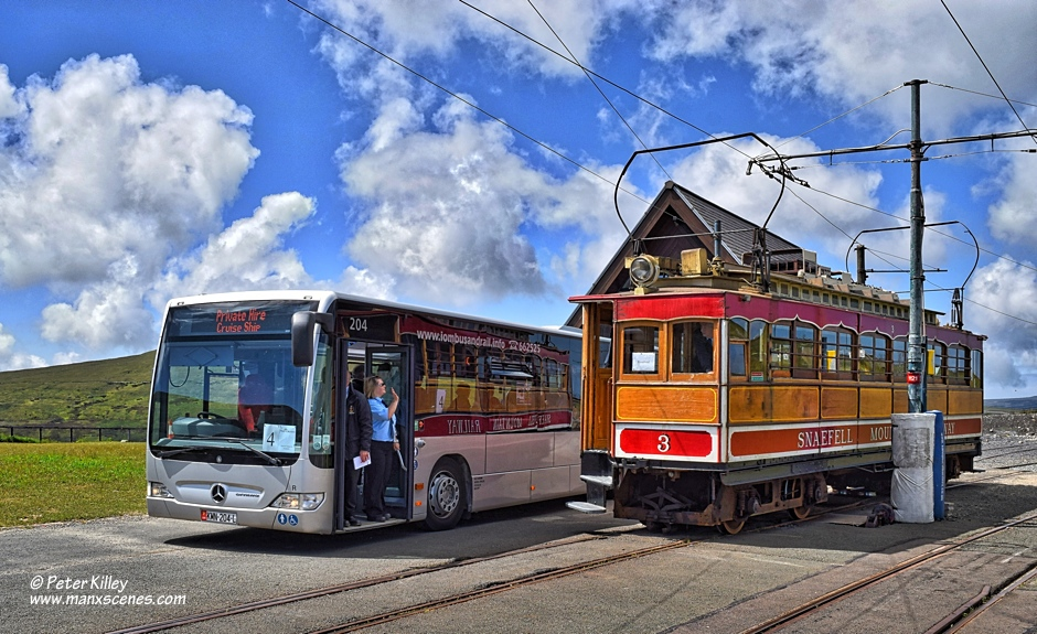Isle of Man Tram and Bus © Peter Killey - www.manxscenes.com