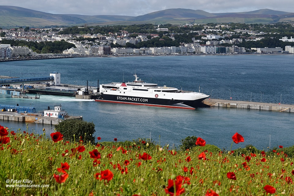 Poppies on Douglas Head - © Peter Killey - www.manxscenes.com