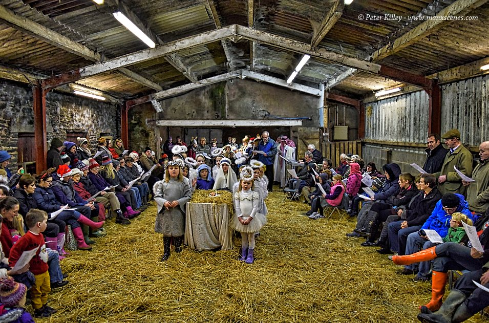 Nativity in the Barn in Ballaugh © Peter Killey - www.manxscenes.com