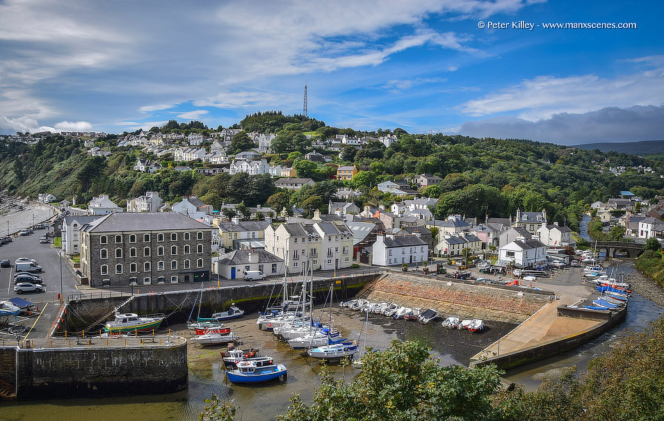 Laxey Harbour and Old Laxey © Peter Killey - www.manxscenes.com