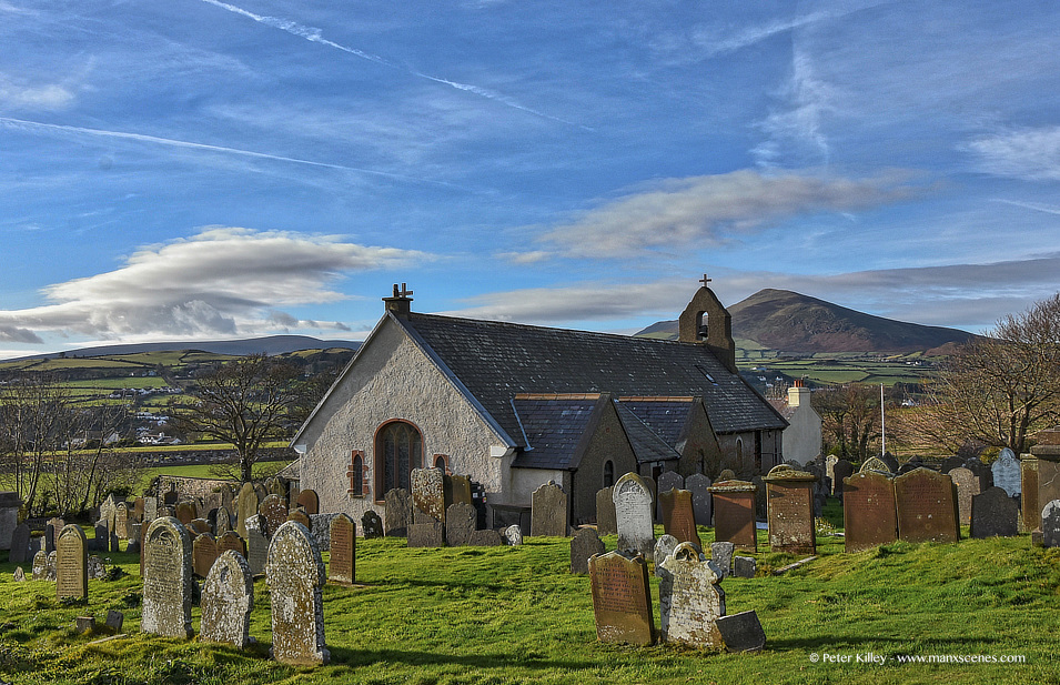 Maughold Church Isle of Man © Peter Killey - www.manxscenes.com