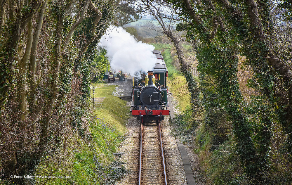 Steam Train Cossack © Peter Killey - www.manxscenes.com