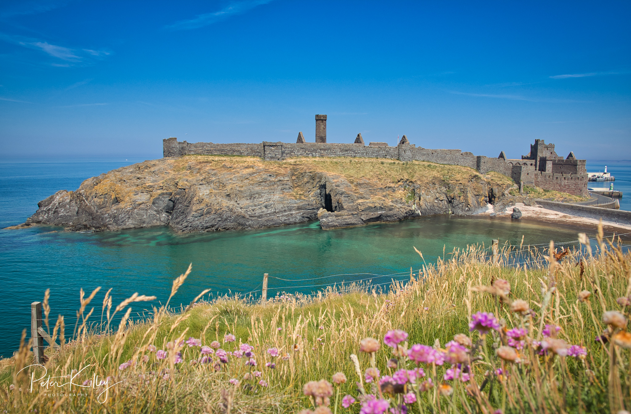 Peel Castle - © Peter Killey - www.manxscenes.com