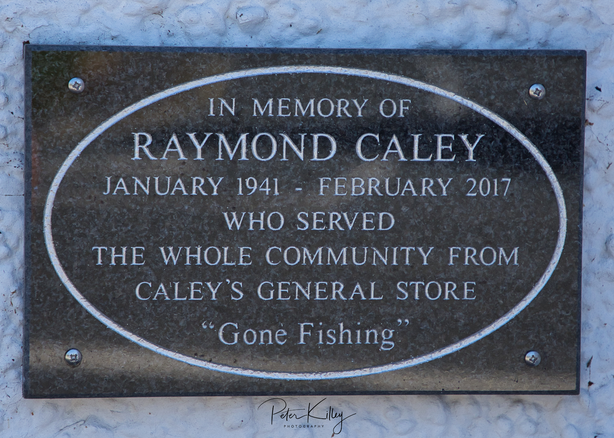 Raymond's Memorial Plaque - www.manxscenes.com