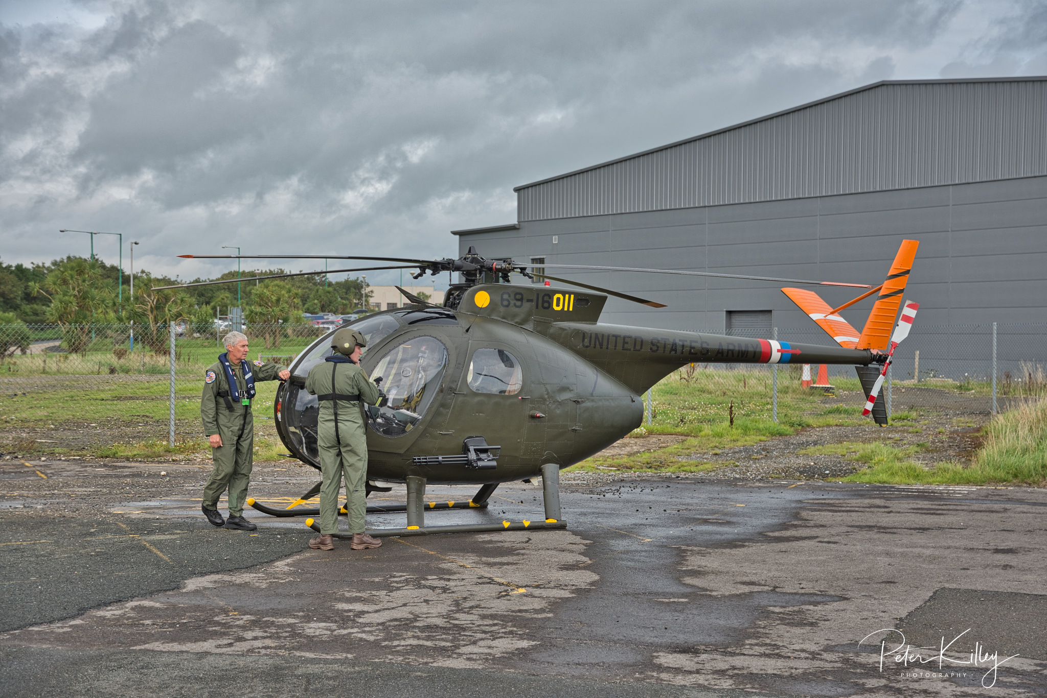 A former Vietnam Helicopter at Ronaldsway Airport © Peter Killey - www.manxscenes.com