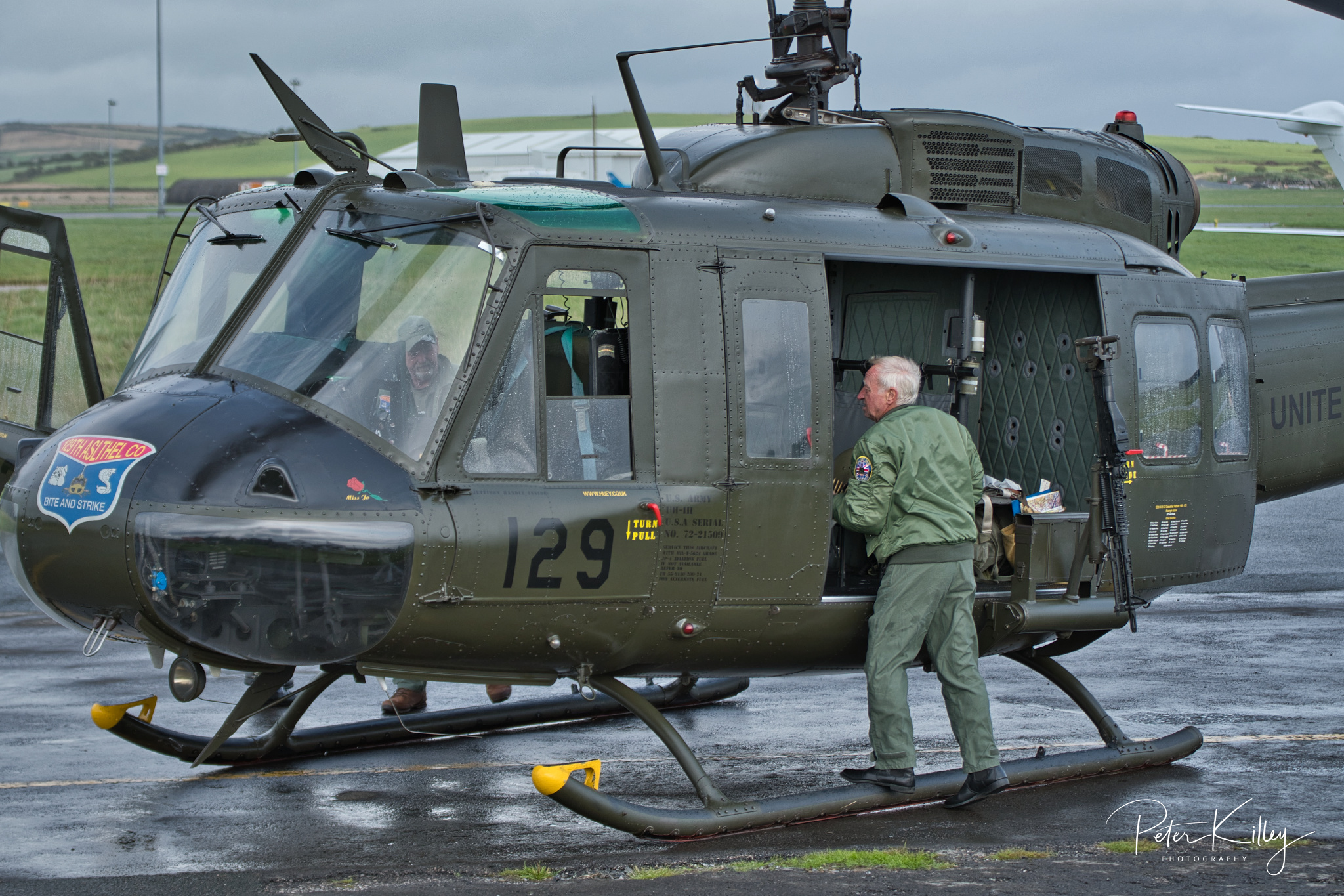 A former Vietnam Huey at Ronaldsway Airport © Peter Killey - www.manxscenes.com