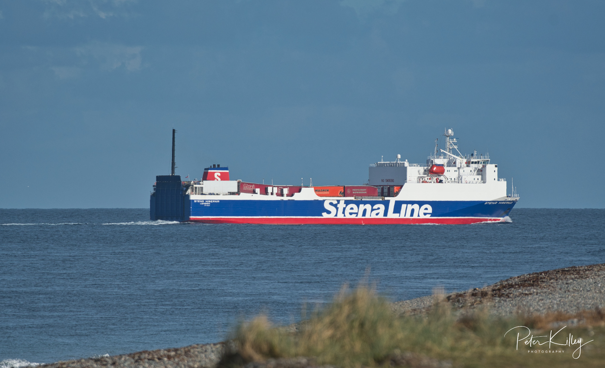 Stena Line at Point of Ayre -  © Peter Killey - www.manxscenes.com