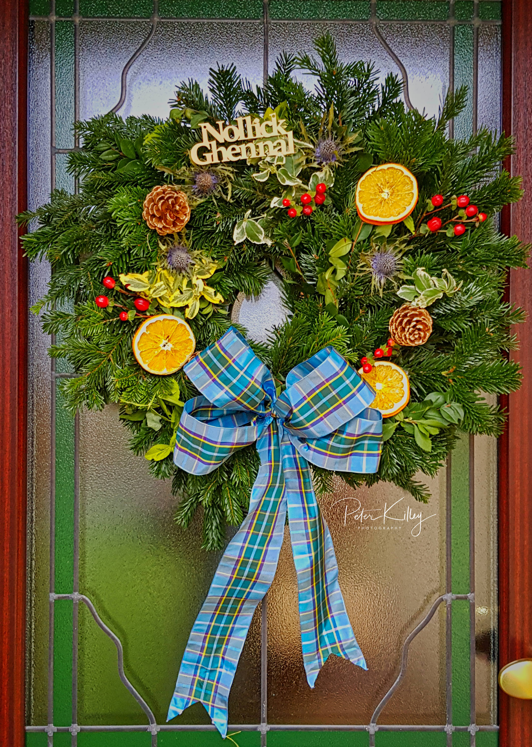 Manx Door Wreath - © Peter Killey - www.manxscenes.com